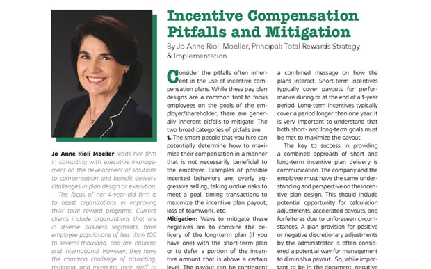 Incentive Compensation Pitfalls and Mitigation