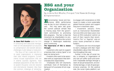 ESG and your Organization